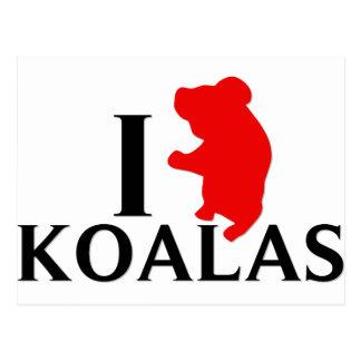 I Love Koalas Postcard