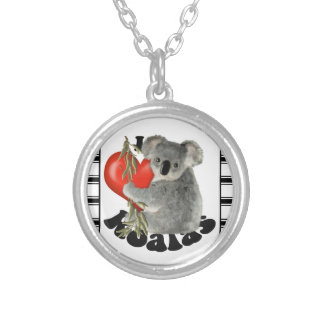 I Love Koalas Silver Plated Necklace