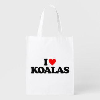 I LOVE KOALAS GROCERY BAG