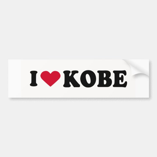 I LOVE KOBE BUMPER STICKER