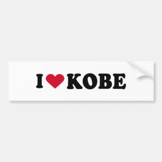 I LOVE KOBE BUMPER STICKER
