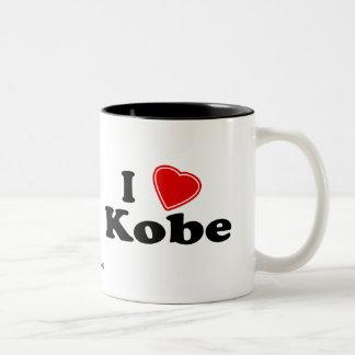 I Love Kobe Two-Tone Coffee Mug