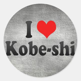 I Love Kobe-shi, Japan. Aisuru Kobe-Shi, Japan Round Stickers