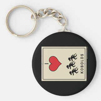 I Love Kobolds Basic Round Button Keychain