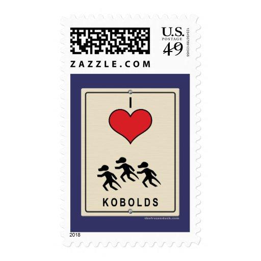 I Love Kobolds Postage Stamps