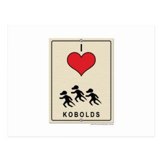 I Love Kobolds Postcard