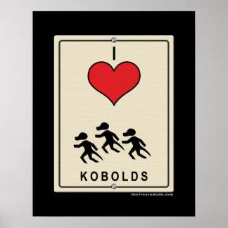I Love Kobolds Poster