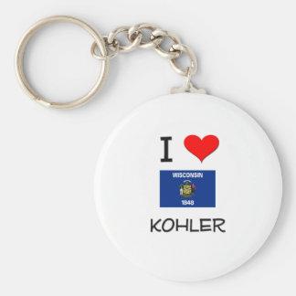 I Love Kohler Wisconsin Keychain