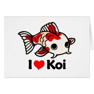 I Love Koi Card