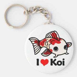 I Love Koi Keychain