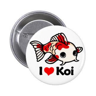 I Love Koi Pinback Button