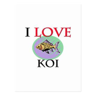 I Love Koi Postcard