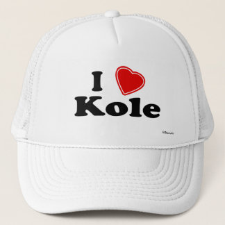 I Love Kole Trucker Hat
