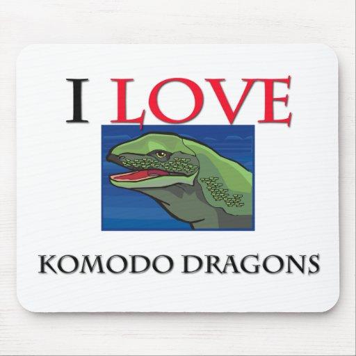 I Love Komodo Dragons Mouse Pad