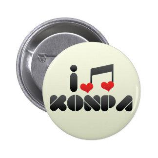 I Love Konpa Pinback Buttons