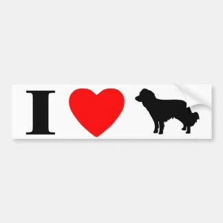 I Love Kooikerhondjes Bumper Sticker Car Bumper Sticker