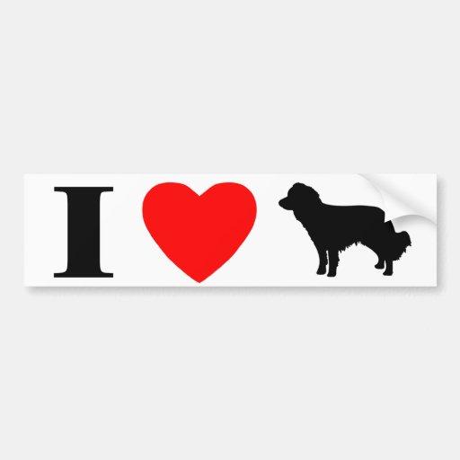 I Love Kooikerhondjes Bumper Sticker