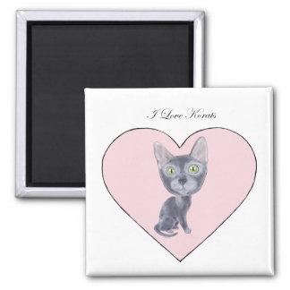 I Love Korats 2 Inch Square Magnet