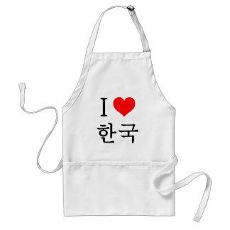 I love Korea Adult Apron