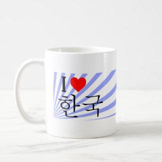 I love korea taza de café