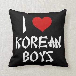 I Love Korean Boys Pillows