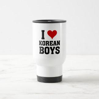 I love Korean Boys Travel Mug