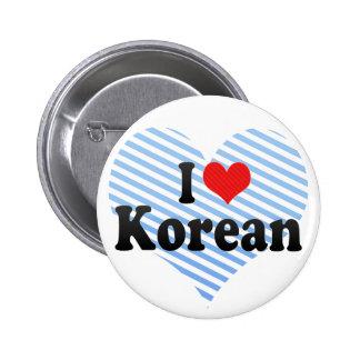 I Love Korean Button