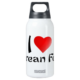 I LOVE KOREAN FOOD 10 OZ INSULATED SIGG THERMOS WATER BOTTLE