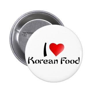 I LOVE KOREAN FOOD 2 INCH ROUND BUTTON