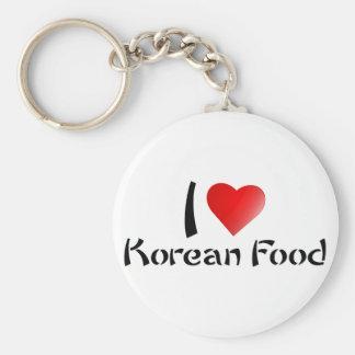 I LOVE KOREAN FOOD BASIC ROUND BUTTON KEYCHAIN
