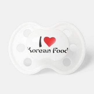 I LOVE KOREAN FOOD BooginHead PACIFIER
