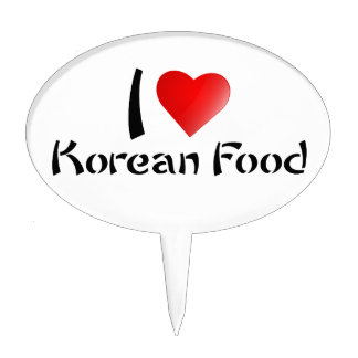 I LOVE KOREAN FOOD CAKE PICKS