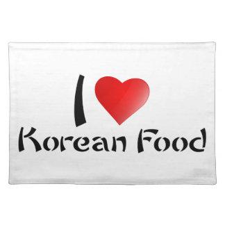I LOVE KOREAN FOOD CLOTH PLACEMAT