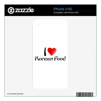 I LOVE KOREAN FOOD DECAL FOR iPhone 4