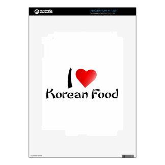 I LOVE KOREAN FOOD iPad 2 SKINS