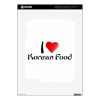 I LOVE KOREAN FOOD iPad 3 SKINS