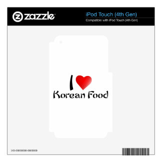 I LOVE KOREAN FOOD iPod TOUCH 4G DECAL