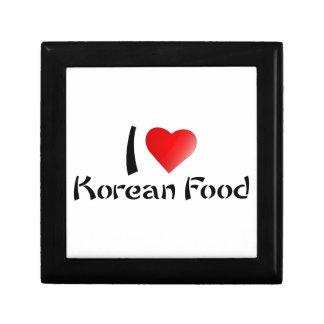 I LOVE KOREAN FOOD KEEPSAKE BOX