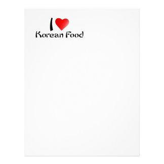 I LOVE KOREAN FOOD LETTERHEAD
