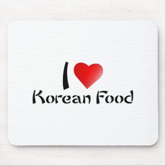 I LOVE KOREAN FOOD MOUSE PAD