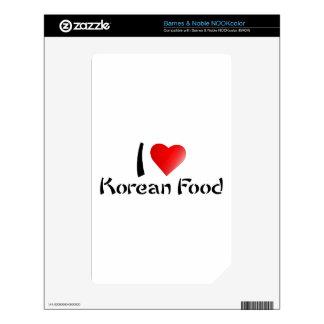 I LOVE KOREAN FOOD NOOK COLOR SKIN