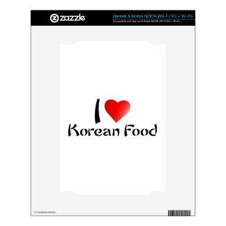 I LOVE KOREAN FOOD NOOK SKINS