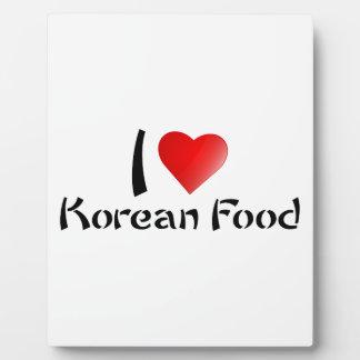 I LOVE KOREAN FOOD PHOTO PLAQUES