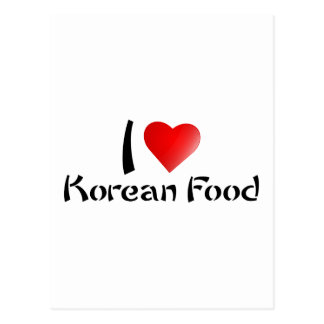 I LOVE KOREAN FOOD POSTCARD