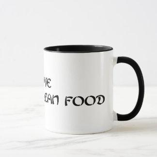 I Love Korean Food Ringer Mug