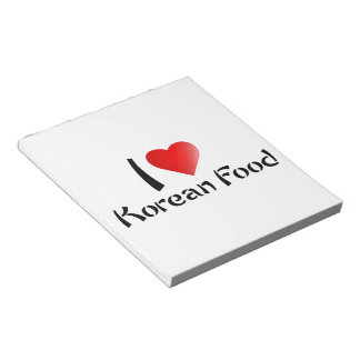 I LOVE KOREAN FOOD SCRATCH PAD