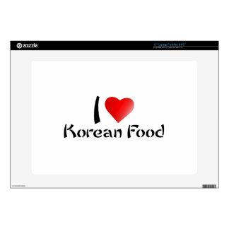 """I LOVE KOREAN FOOD SKINS FOR 15"""" LAPTOPS"""