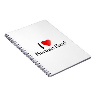 I LOVE KOREAN FOOD SPIRAL NOTE BOOK