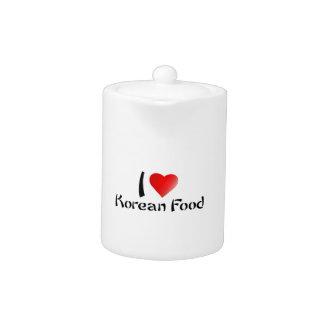 I LOVE KOREAN FOOD TEAPOT