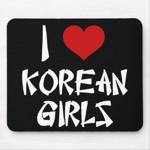 I Love Korean Girls Mouse Pad